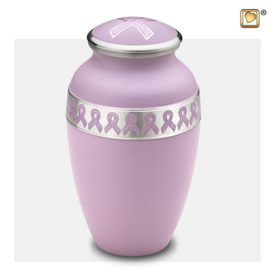A900  Awareness™ Adult Urn Pink & Bru Pewter