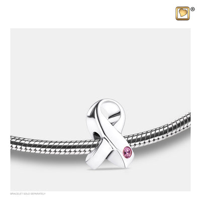 BD2070 BEAD Awarenes™ Rhodium Plated with Pink Crystal