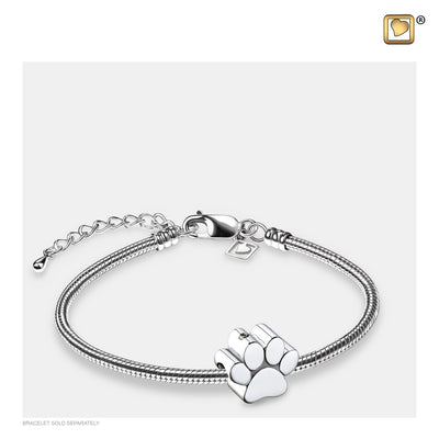 BD2102 BEAD  Paw™ Rhodium Plated