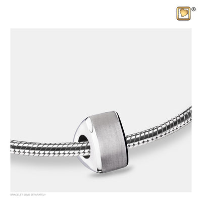BD2110 BEAD Omega™ Rhodium Plated Two Tone