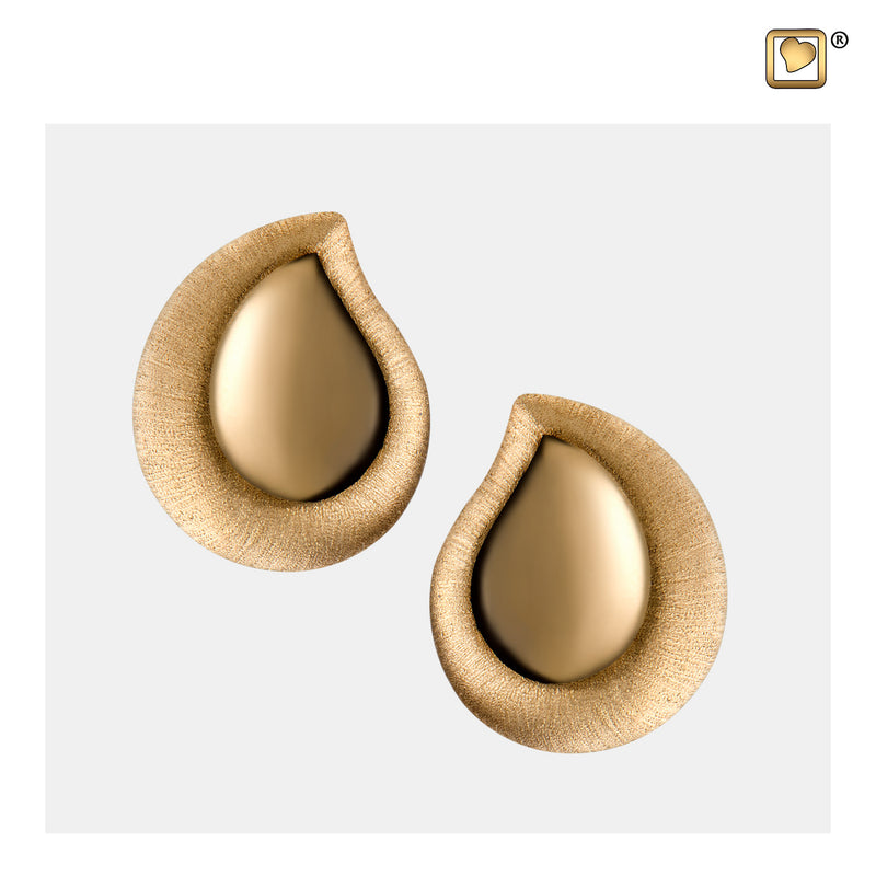 ER1021 STUD EARRINGS TearDrop™ Gold Vermeil Two Tone