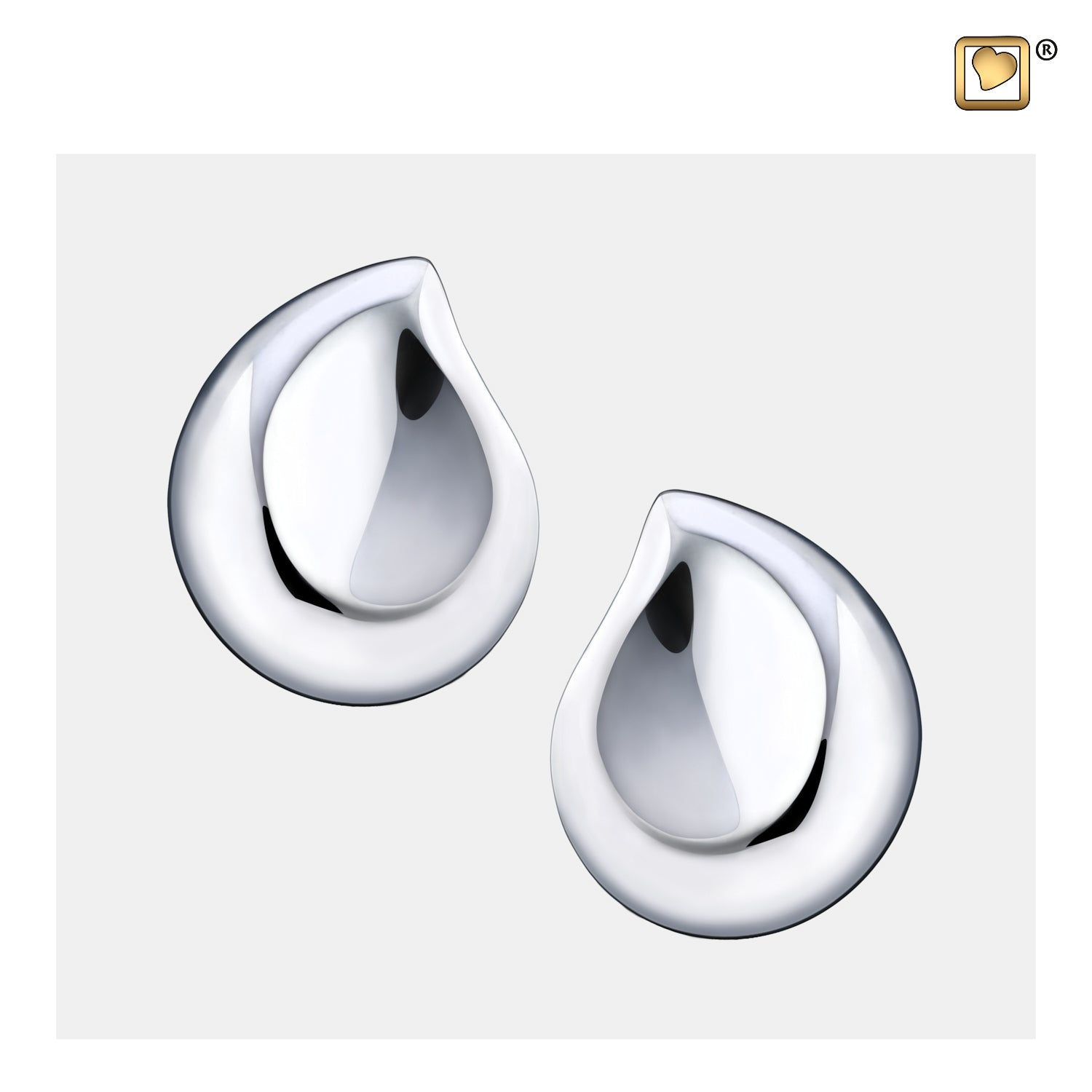 ER1022 STUD EARRINGS TearDrop™ Rhodium Plated