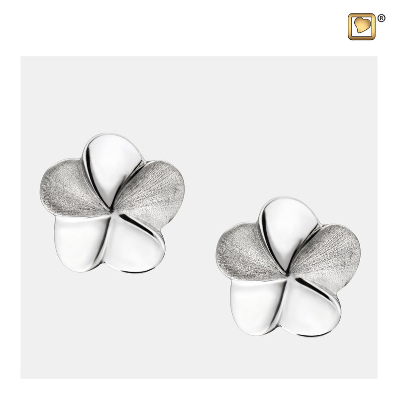 ER1070 STUD EARRINGS Bloom™ Rhodium Plated Two Tone