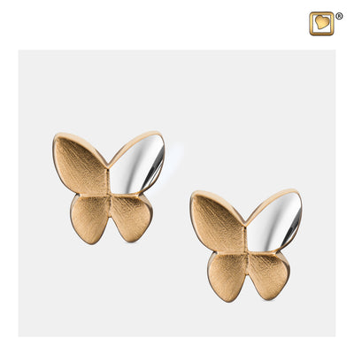 ER1160 STUD EARRINGS Butterfly™ Gold Vermeil Two Tone
