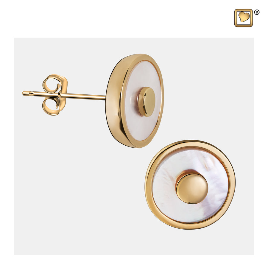 ER1290 STUD EARRINGS Mother of Pearl™ Gold Vermeil