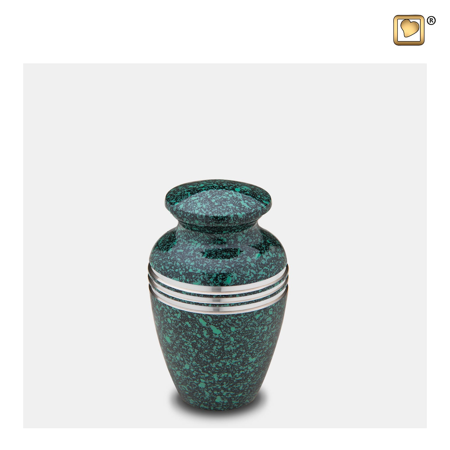 K213  Classic™ Keepsake Urn Speckled Emerald & Bru Pewter