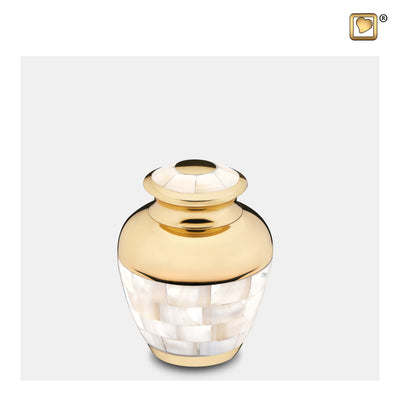 K230  Mother of Pearl™ Keepsake Urn Pol Gold