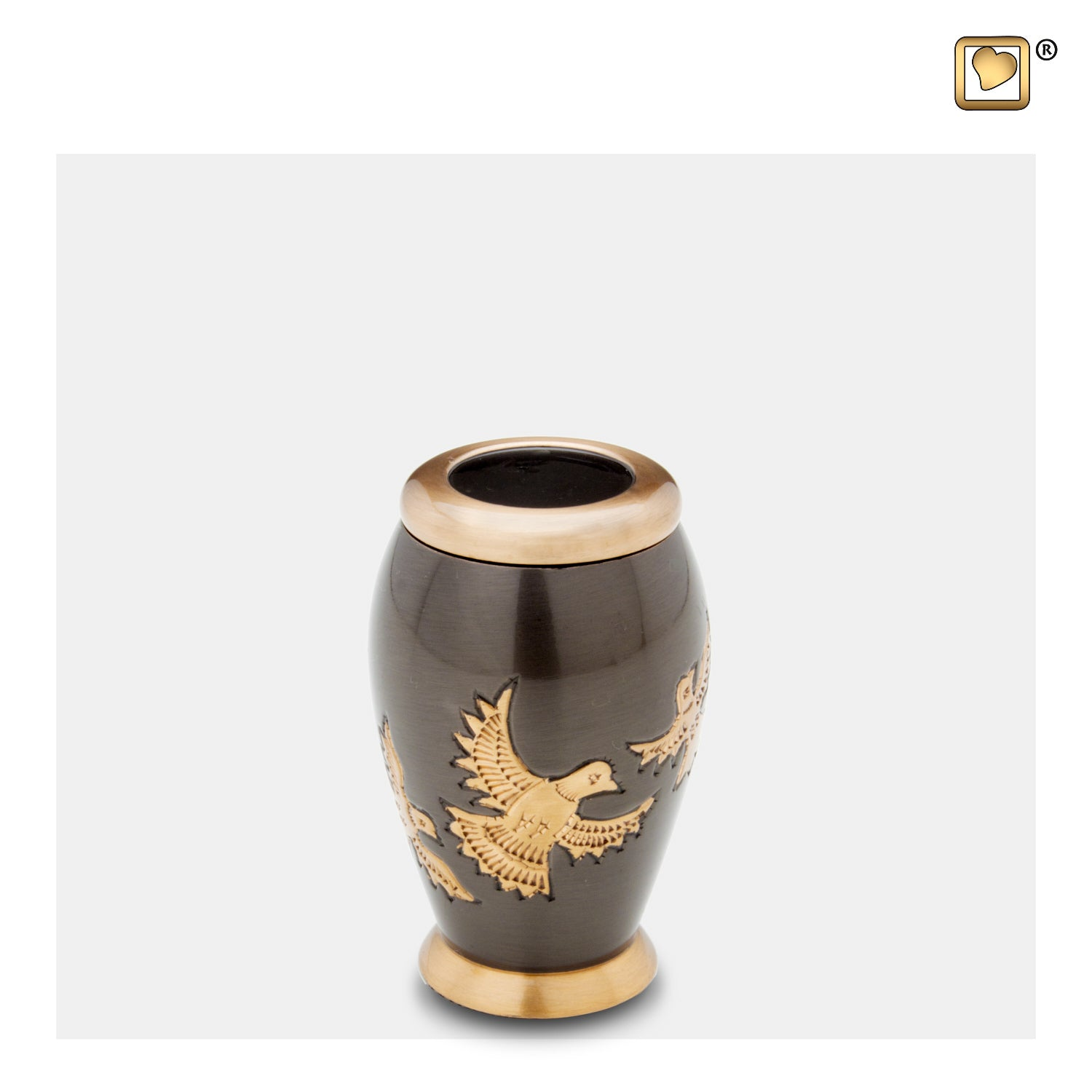 K506  Majestic™ Flying Dove Keepsake Urn Midnight & Bru Gold