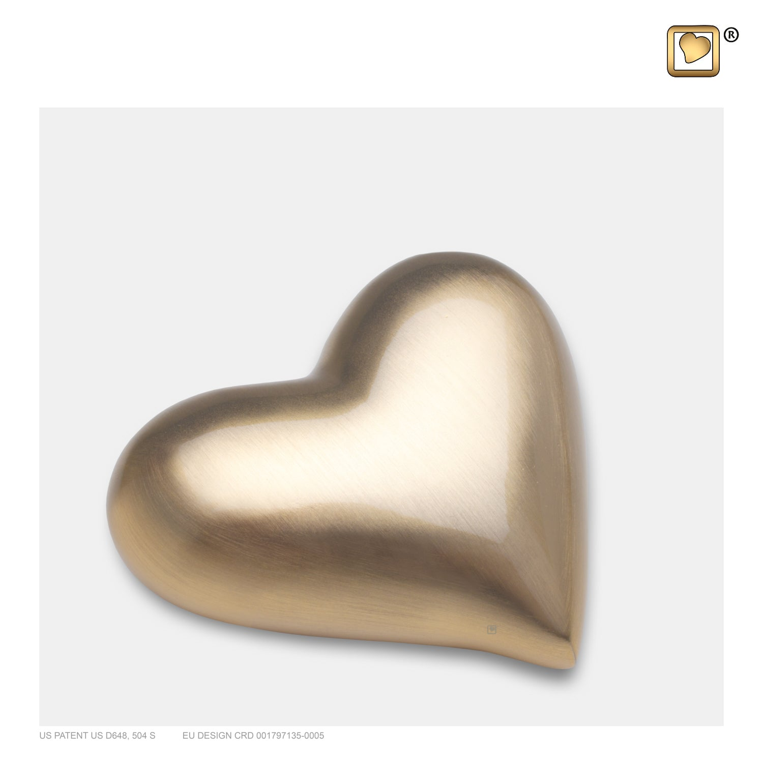K600  Heart Keepsake Urn Bru Gold