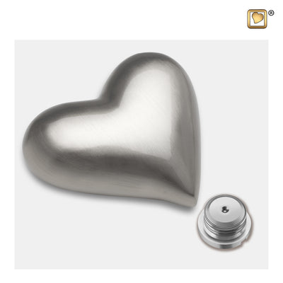 K601  Heart Keepsake Urn Bru Pewter
