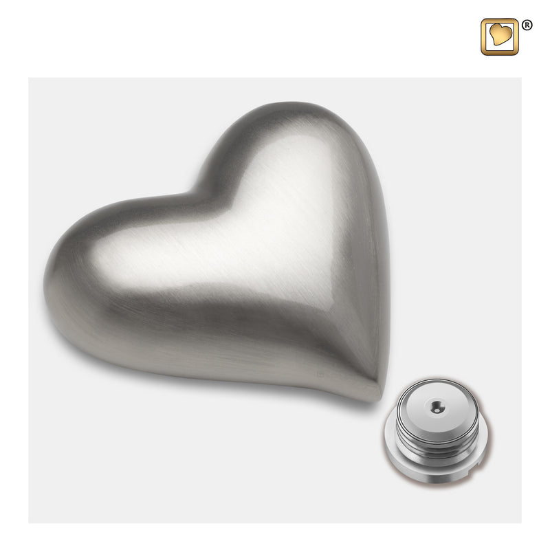 K601 HEART BRUSHED PEWTER™