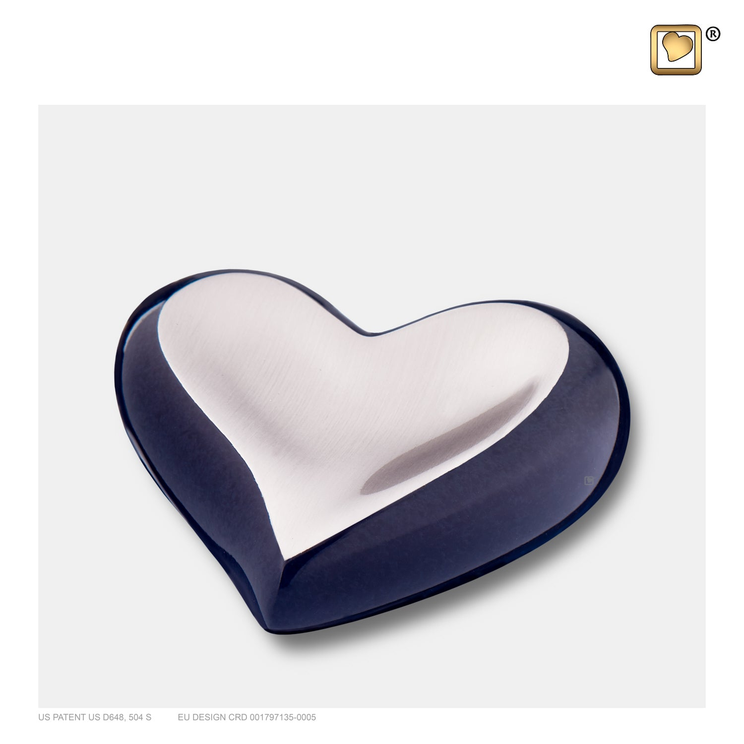 K611 HEART BRUSHED PEWTER MIDNIGHT™