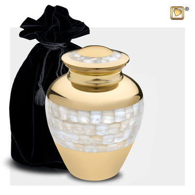 M230  Mother of Pearl™ Medium Urn Pol Gold