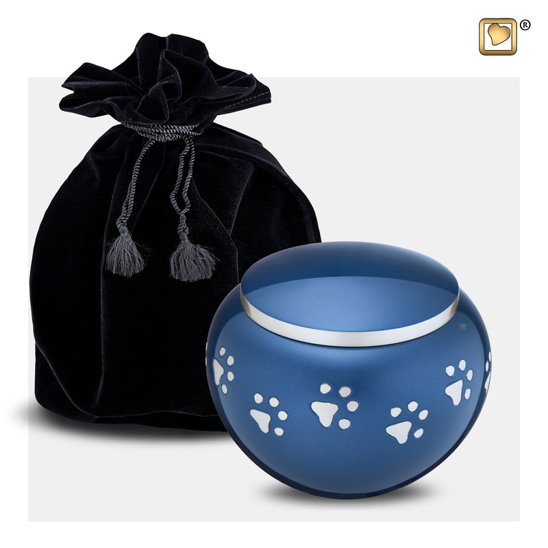 P271L  Classic™ Round Large Pet Urn Blue & Bru Pewter