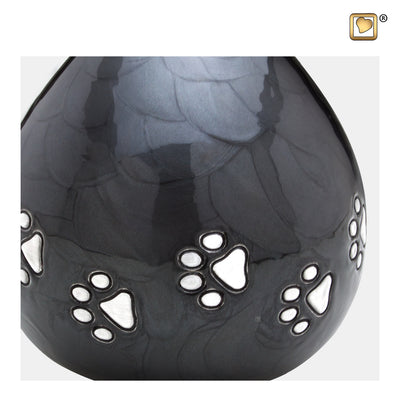 P633  LoveDrop™ Pet Urn Pearl Midnight & Bru Pewter