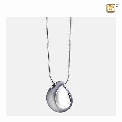 PD1020 PENDANT TearDrop™ Rhodium Plated Two Tone