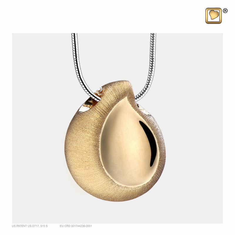 PD1021 PENDANT TearDrop™ Gold Vermeil Two Tone