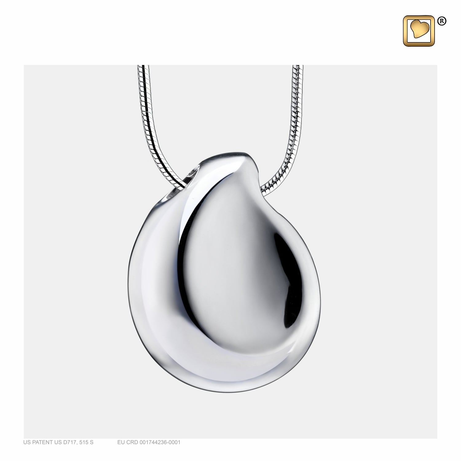 PD1022 PENDANT TearDrop™ Rhodium Plated