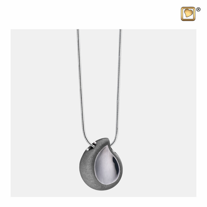 PD1023 PENDANT TearDrop™ Ruthenium Plated Two Tone