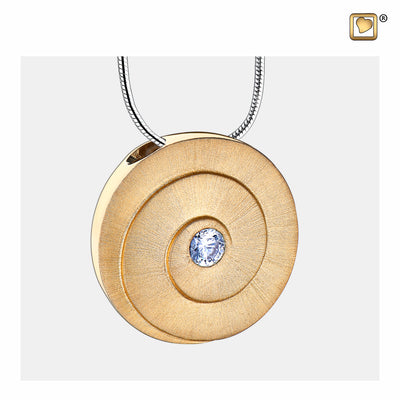 PD1061 PENDANT Eternity™ Gold Vermeil Two Tone with Clear Crystal