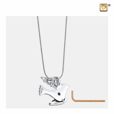PD1190 PENDANT Flying Dove™ Rhodium Plated Two Tone