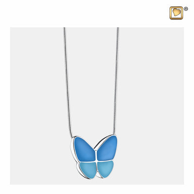 PD1201 PENDANT Wings Of Hope™ Blue Enamel Rhodium Plated