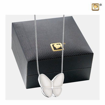 PD1202 PENDANT Wings Of Hope™ Pearl Enamel Rhodium Plated