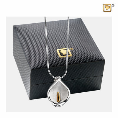 PD1210 PENDANT Calla Lily™ Rhodium Plated Gold Vermeil Two Tone