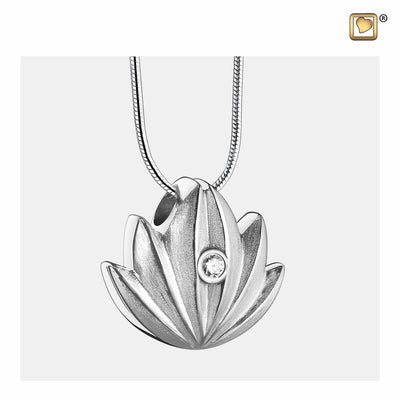 PD1300 PENDANT Lotus™ Rhodium Plated Two Tone with Clear Crystal