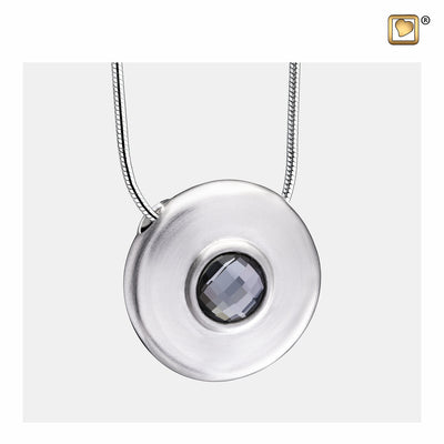 PD1440 PENDANT Simplicity™ Rhodium Plated with Black Swarovski® Crystal