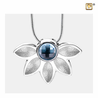 PD1450 PENDANT Azure™ Rhodium Plated Two Tone with Blue Swarovski® Crystal
