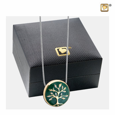 PD1470 PENDANT Tree of Life™ Enamel Gold Vermeil Two Tone