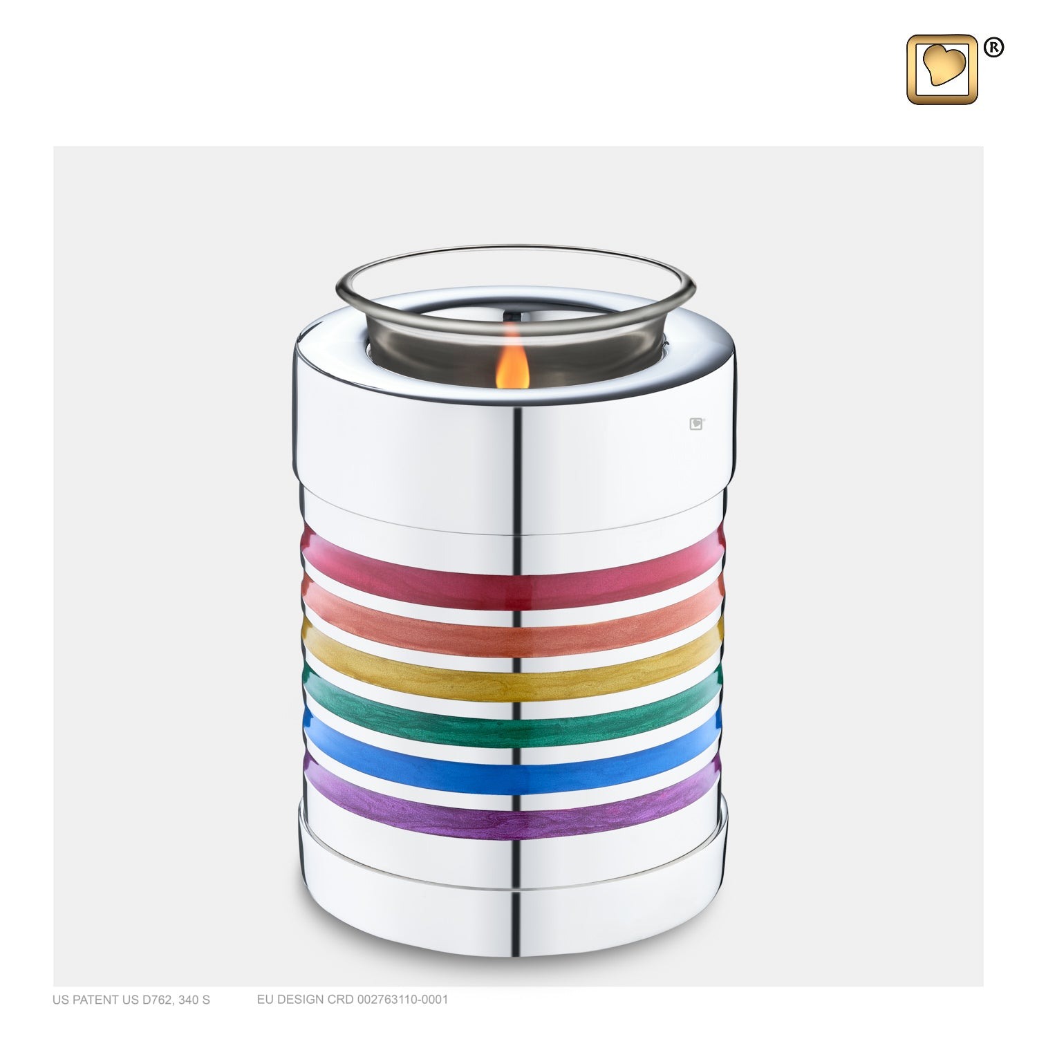 T222 TEALIGHT PRIDE RAINBOW