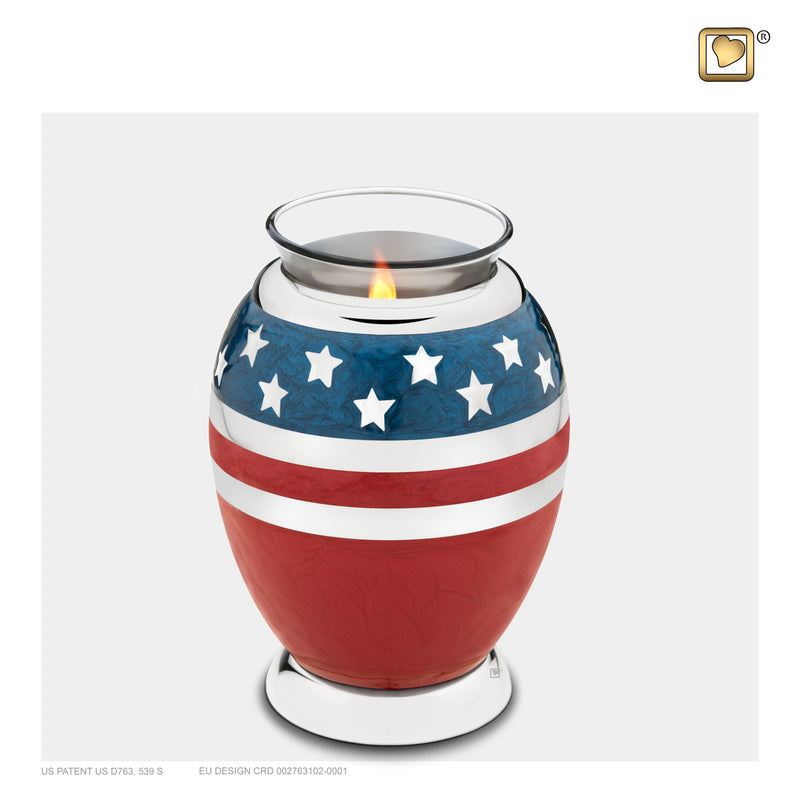 T272 TEALIGHT STARS & STRIPES™