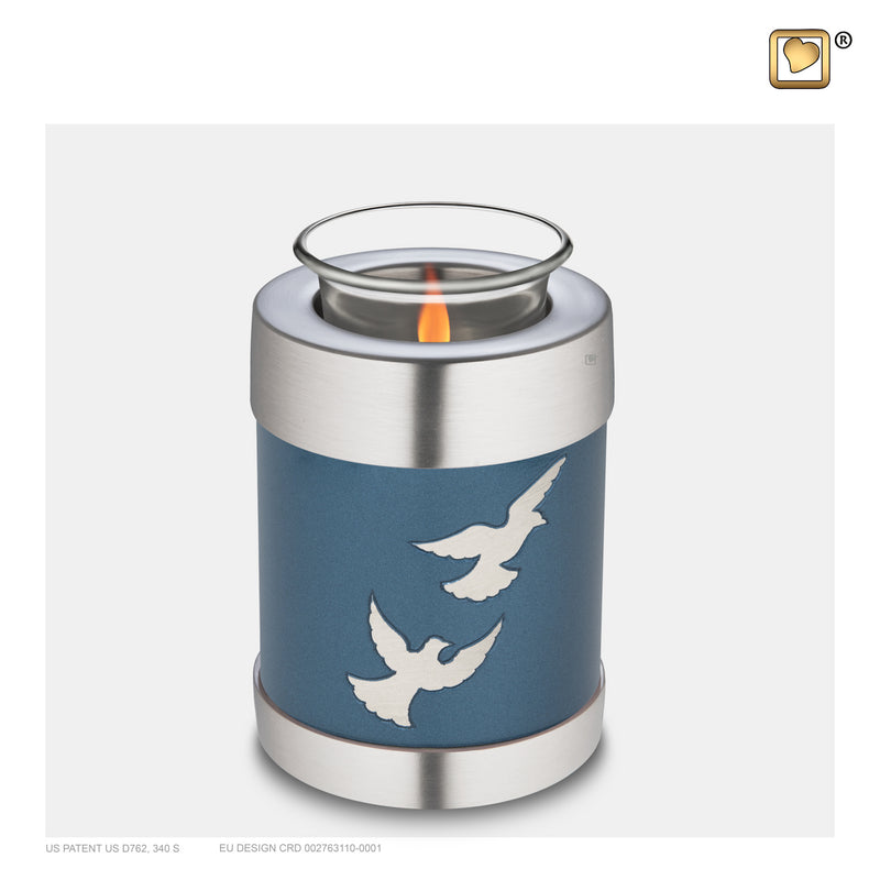 T572 TEALIGHT FLYING DOVES™