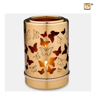 T711  Reflections™ of Life Tealight Urn Bru Gold