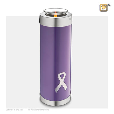 T903 TEALIGHT AWARENESS PURPLE TALL™