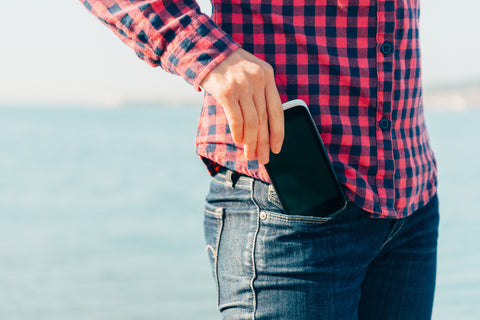 Most males keep their phone in their front trouser pocket...right next to their testicles!