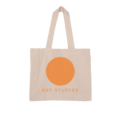 Get Stuffed (and focus on your breathing) Large Organic Tote Bag
