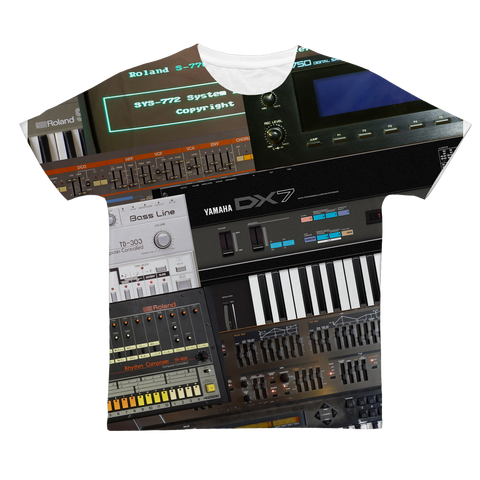 Vintage Synth All-Over Print Adult T-Shirt