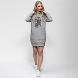 """ROBOT LOVER"" (Colour) Premium Adult Hoodie Dress"