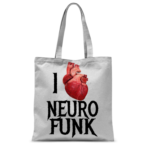 """I Love Neurofunk"" Classic Sublimation Tote Bag"