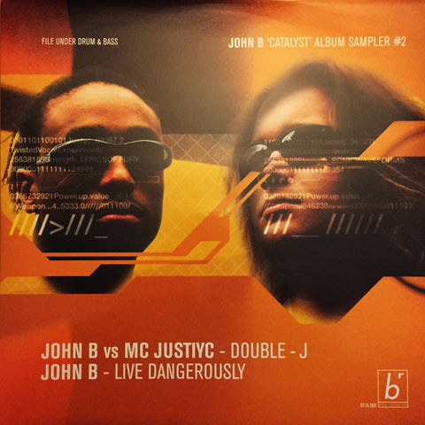 BETA003 - John B vs. MC Justiyc - Double J b/w Live Dangerously (1999)