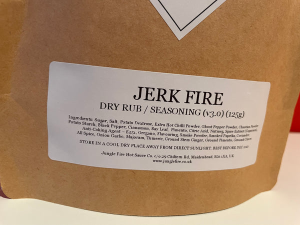 JERK FIRE (v3) - DRY RUB / SEASONING MIX (125g)