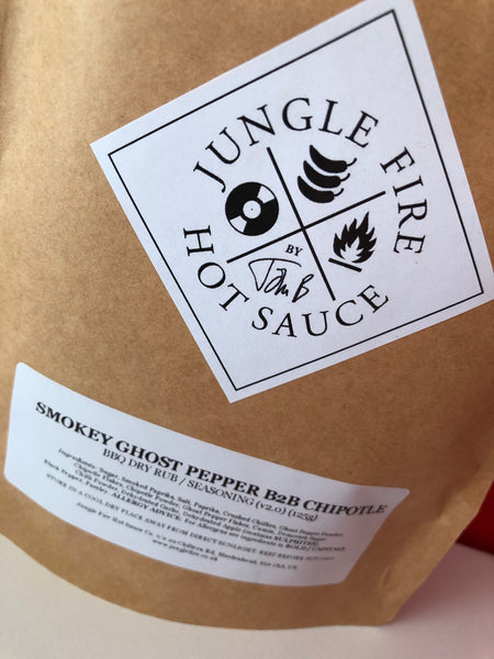 SMOKEY GHOST PEPPER B2B CHIPOTLE BBQ DRY RUB / SEASONING MIX (125g)
