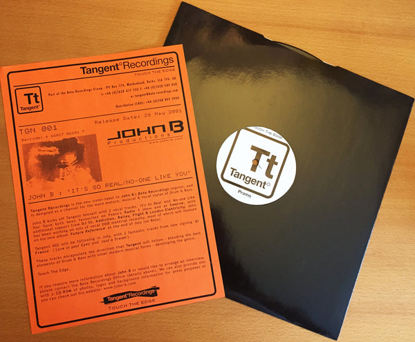 TGN001 - John B - It's So Real b/w No-One Like You [2001]