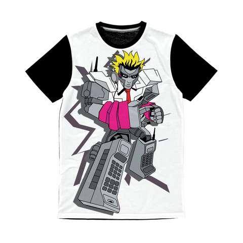 """ROBOT LOVER"" (Colour) Classic Sublimation Panel T-Shirt"