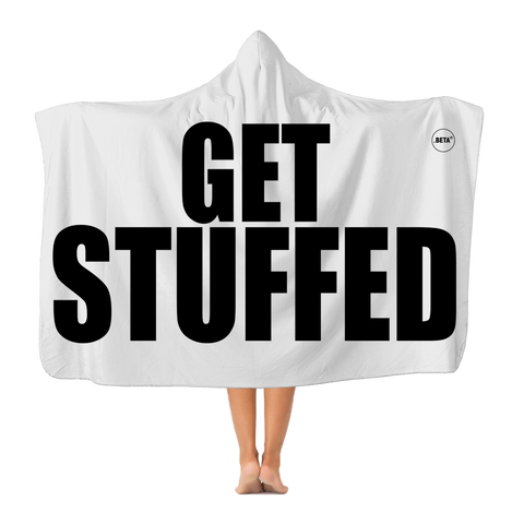 GET STUFFED Classic Adult Hooded Blanket