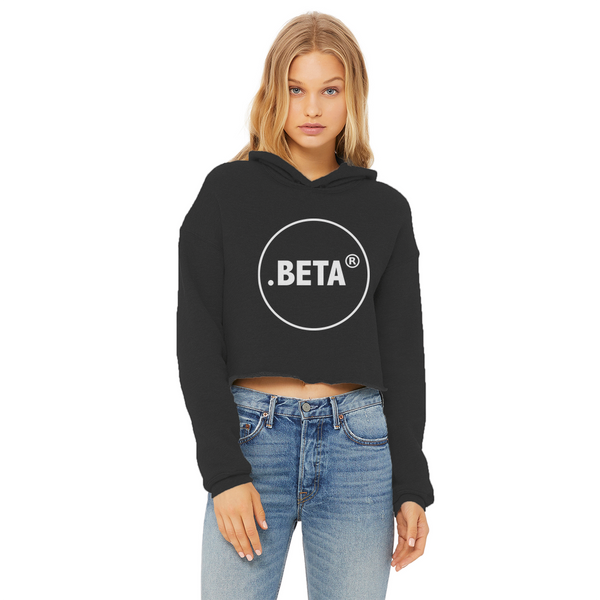 BETA Ladies Cropped Raw Edge Hoodie