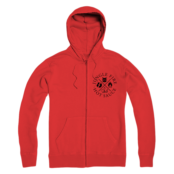 Jungle Fire Premium Adult Zip Hoodie